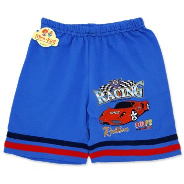 Pantaloni scurti baieti 4-9 ani, masinuta, albastru