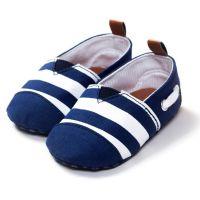 Pantofiori bebe 0-12 luni, dungi bleumarin