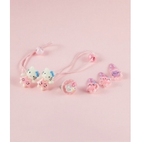 Set accesorii par fetite, Hello Kitty, roz