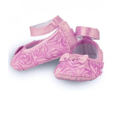 Balerini fetite 0-12 luni, trandafiri roz