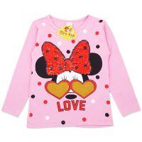Bluza fete 2-7 ani, roz, paiete reversibile