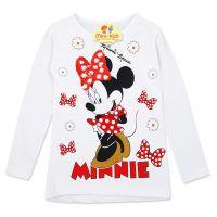Bluza fete 5-10 ani, alb, paiete reversibile, Minnie