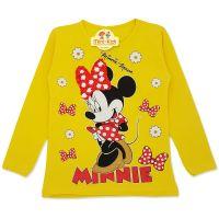 Bluza fete 5-10 ani, galben, paiete reversibile, Minnie