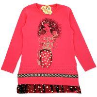 Bluza fete 8-12 ani, glitter, roz