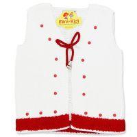 Vesta tricotata fete 1-4 ani, ciucurasi
