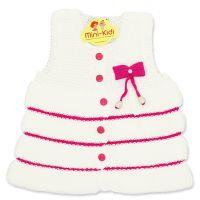 Vesta tricotata fete 1-4 ani, volanase