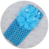 Bentita albastra, lata, fetite 0-5 ani, floare mare