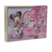 Set puzzle de lemn, Minnie