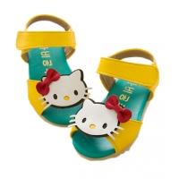 Sandale fetite Hello Kitty, galben