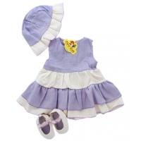 Set rochita din in fetite 1-6 luni, lila