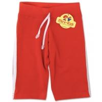 Pantaloni 3/4 copii 3-4 ani, dungi, corai