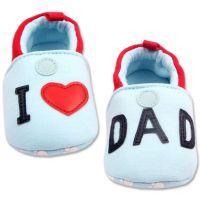 Mocasini bebe 0-12 luni, I love Dad