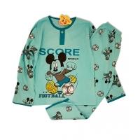 Pijamale copii 8-9 ani, Mickey, verde