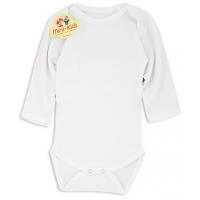 Body alb bumbac bebe 0-1 & 6-9 luni