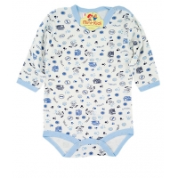 Body copii 1-3 ani, catelusi, bleu