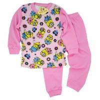 Pijamale copii 3-6 ani, Minioni, roz