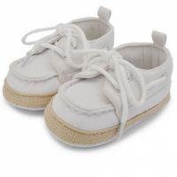 Pantofiori albi bebelusi 0-9 luni