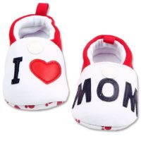 Mocasini bebe 0-12 luni, I love Mom