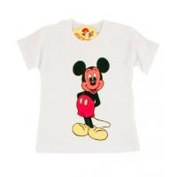Tricou bumbac bebelusi 3-6 luni, Mickey Mouse