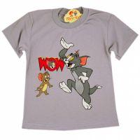 Tricou baieti 3-8 ani, Tom & Jerry, gri