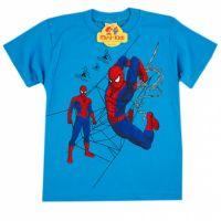 Tricou baieti 3-8 ani, Spiderman, albastru