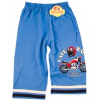 Pantaloni 3/4 baieti 4-5 ani, motocicleta