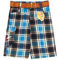 Pantaloni 3/4 baieti 1-4 ani, carouri
