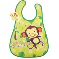Bavetica impermeabila pentru bebelusi, maimutica