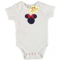 Body bebe 1-18 luni, Minnie, alb