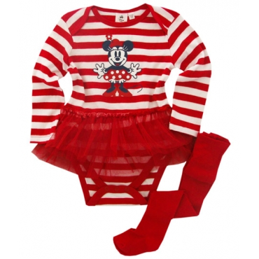 Set rochita-dres bebe 1-6 luni, Minnie