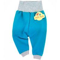 Pantaloni trening bebe 3-9 luni, turcoaz