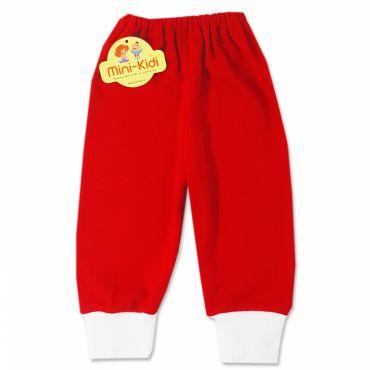 Pantaloni rosii din bumbac copii 0-2 ani