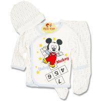 Costumas bumbac bebelusi 1-3 luni, Mickey
