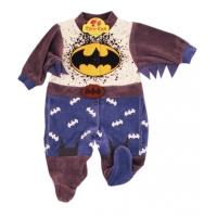 Salopeta catifea bebe 0-3 luni, Batman