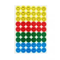 Set 3 folii cu stickere, smiley faces