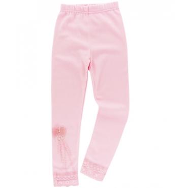 Colanti fetite 4-8 ani, floricica, roz