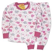 Pijamale bumbac fetite 6 luni-6 ani, elefanti