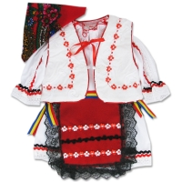 Costum botez traditional fetite 1-6 luni